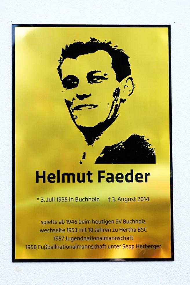 Gedenktafel Helmut Faeder