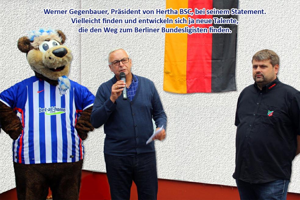 Herr Gegenbauer- Präsident Hertha BSC spricht