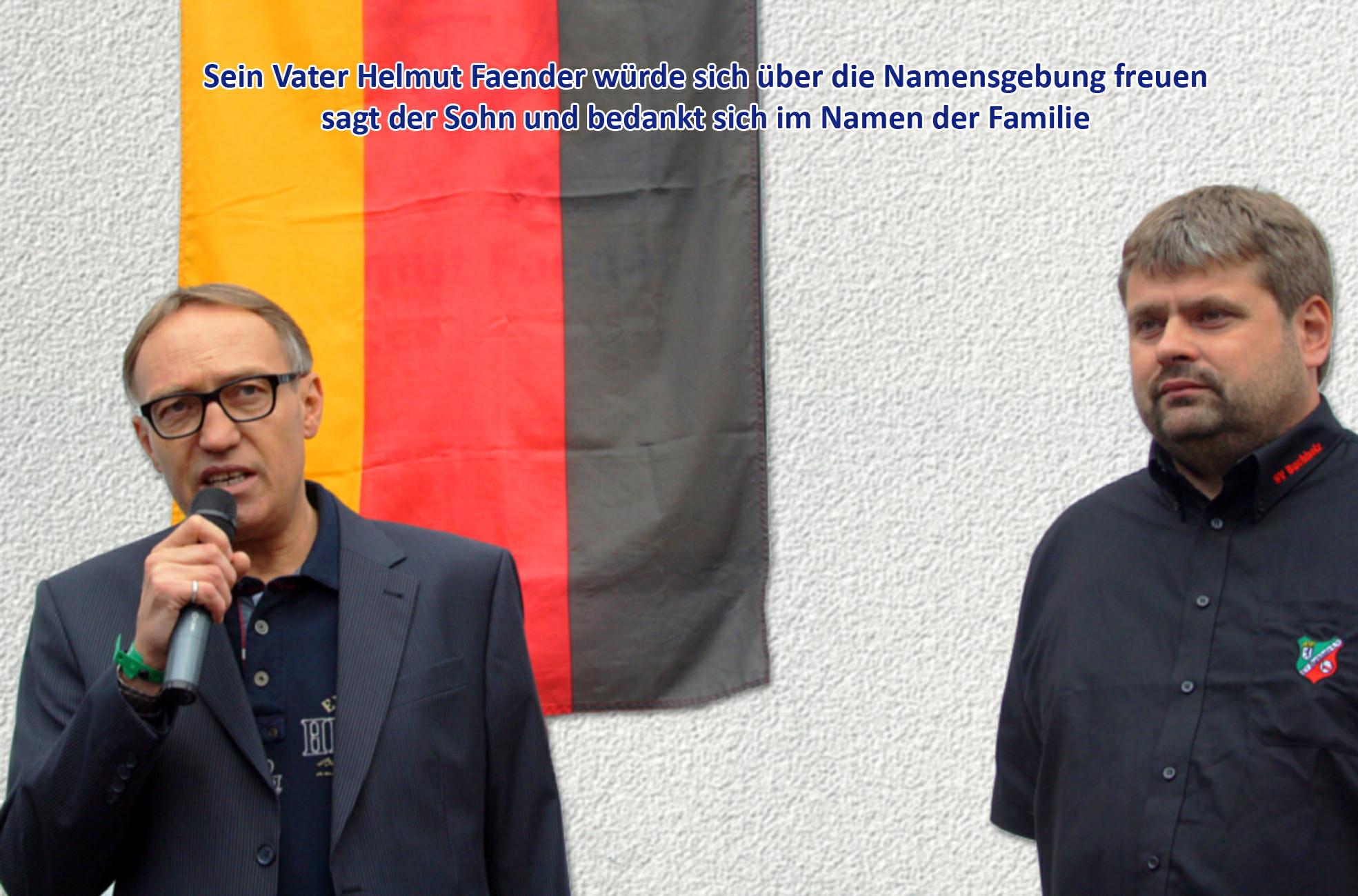 Sohn von Helmut Faender spricht