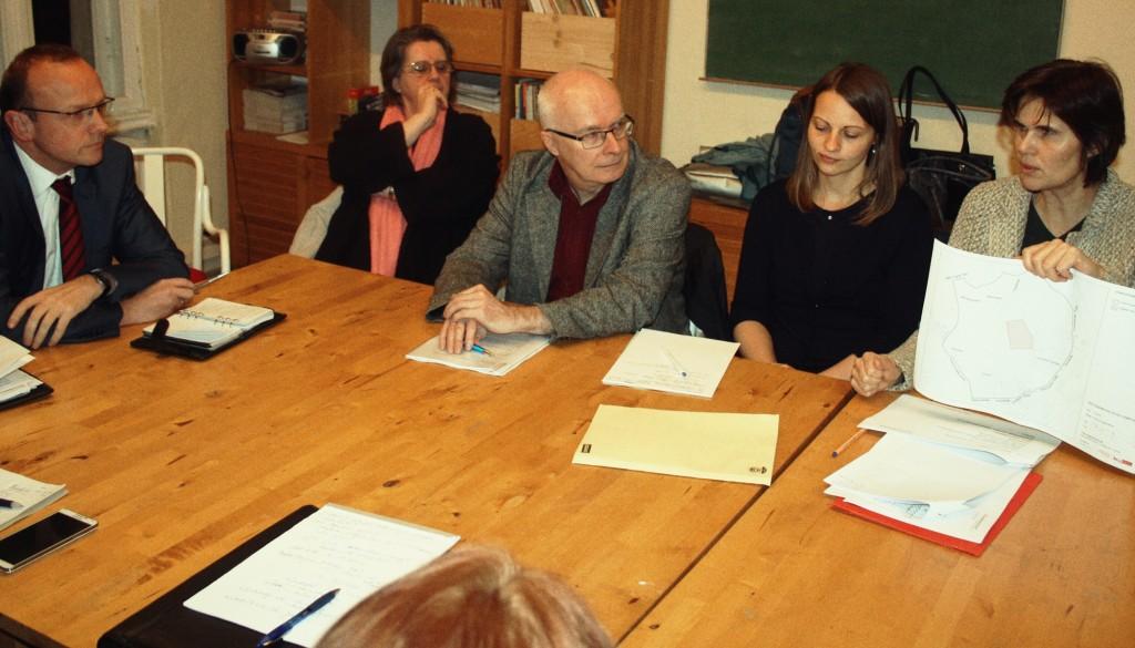 Austausch Planungsstand Elisabeth-Aue mit Vertretern des Senats, der Planergemeinschaft und verschiedener Bürgervereinsvertretern