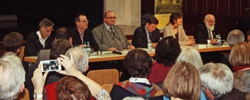Präsidium mit Senator Andreas Geisel und dem Verein Für Pankow e. V. zur Elisabeth-Aue