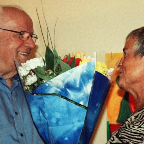 Karin Klengel sagt Danke mit Blumen.