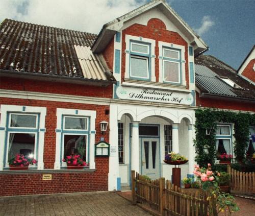 Tagungsstätte des 23. Buchholz-Treffens in Buchholz / Dithmarschen.
