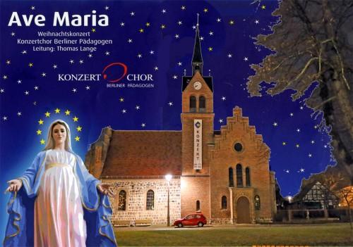 Plakat Weihnachtskonzert.