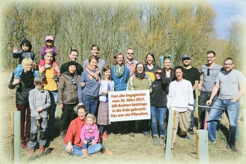 Gruppenfotot Pflanzung Märtz 2017