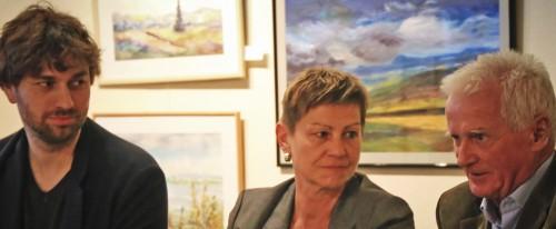 Elke Breitenbach (m.); Stefan Gelbhaar (r.); Dieter Klengel (r.)