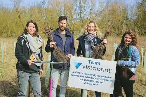 Pflanzteam Vistaprint 1. Gruppe