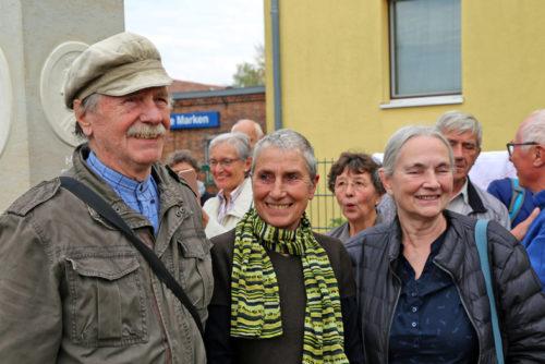 Von L. nach R. Bildhauer Ulrich Jörke; Bildhauherin Liz Mields-Kratochwil; Bildhauherin Marguerite Blume-Cárdenas