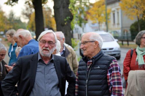 v. L. Pfarrer i. R. Martin König und Prof. i. R. Manfred Meisel