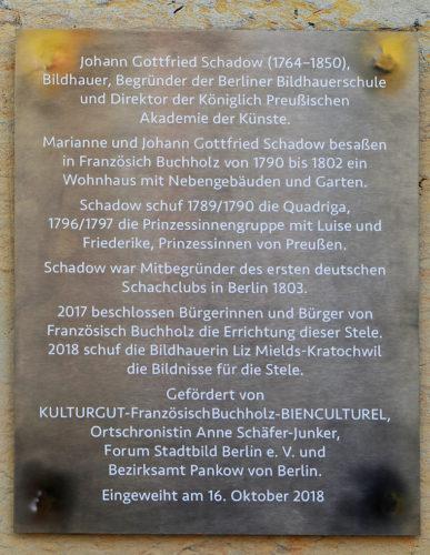 Inschrift Schadow-Stele
